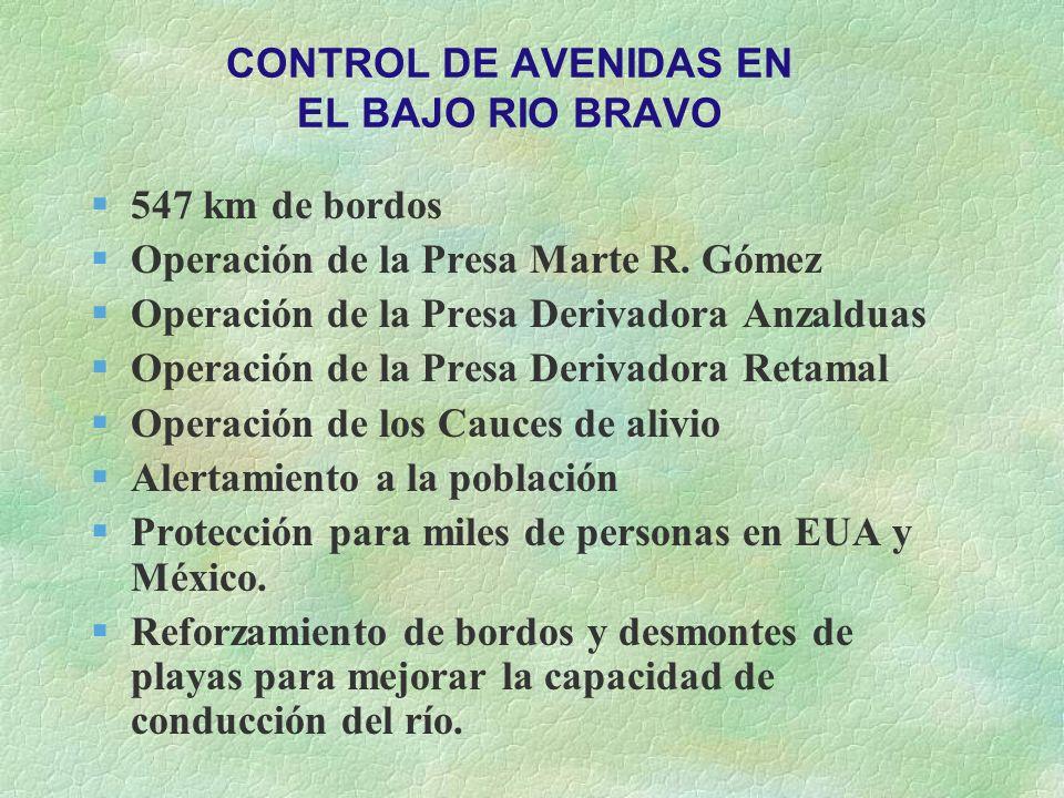 CONTROL DE AVENIDAS EN EL BAJO RIO BRAVO