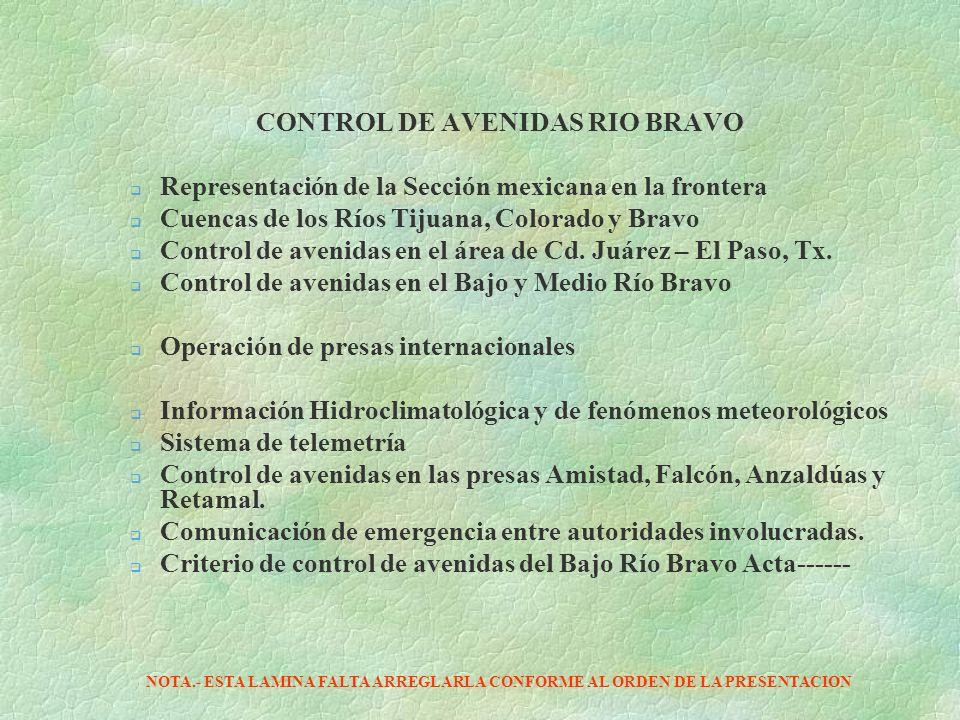CONTROL DE AVENIDAS RIO BRAVO
