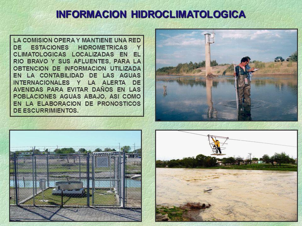 INFORMACION HIDROCLIMATOLOGICA