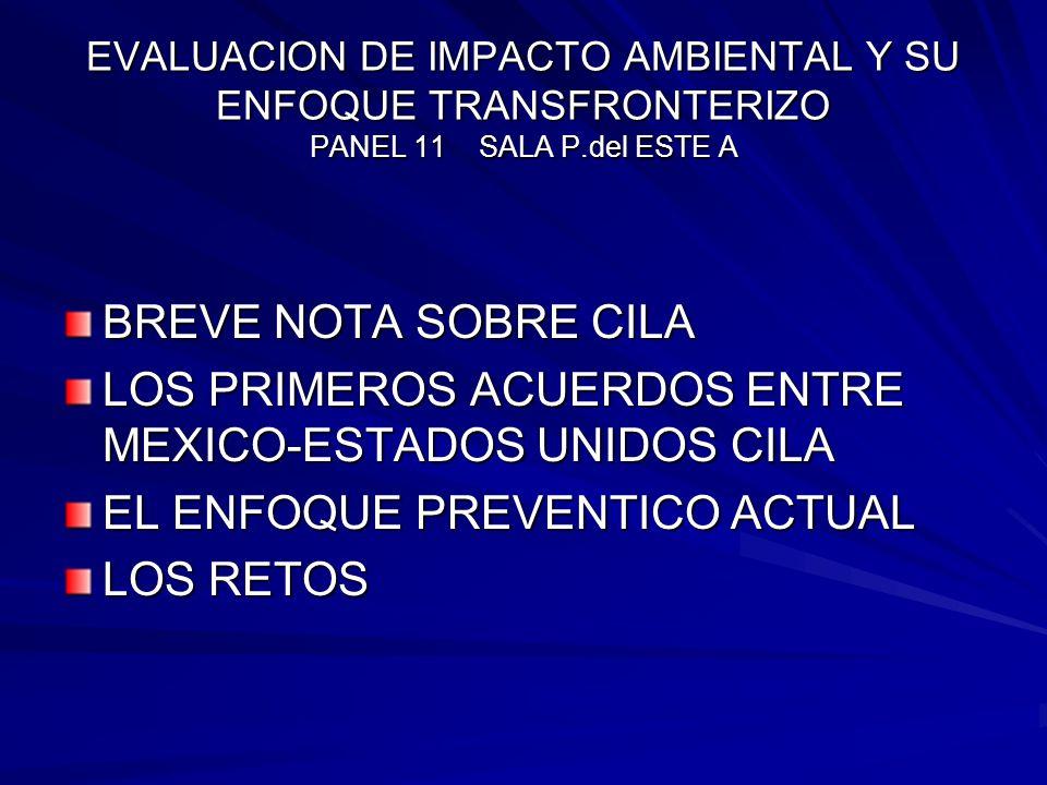 LOS PRIMEROS ACUERDOS ENTRE MEXICO-ESTADOS UNIDOS CILA