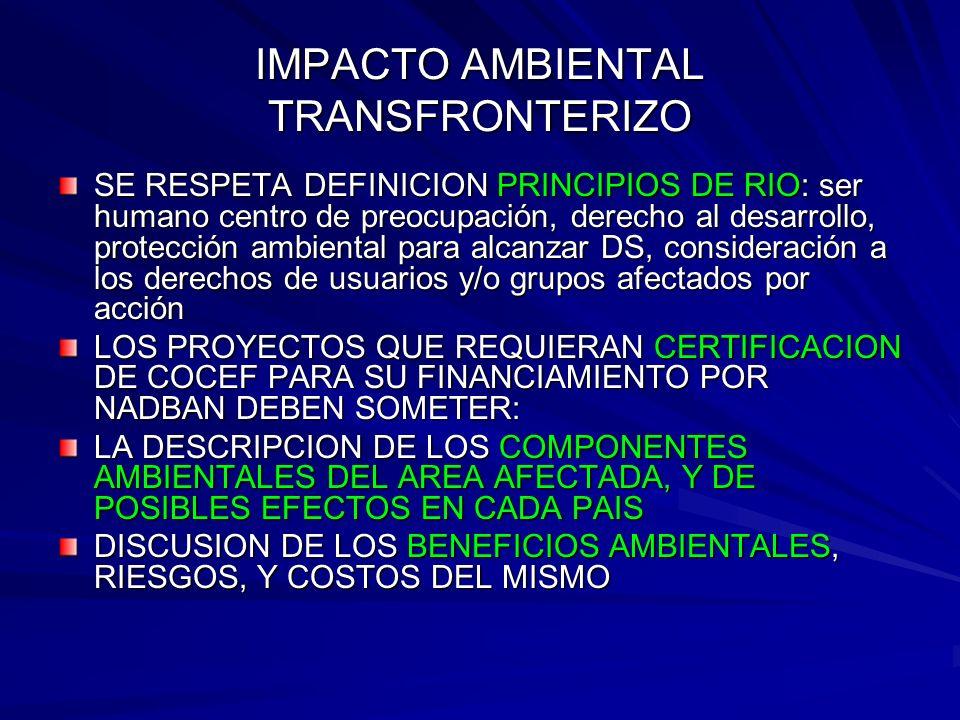 IMPACTO AMBIENTAL TRANSFRONTERIZO