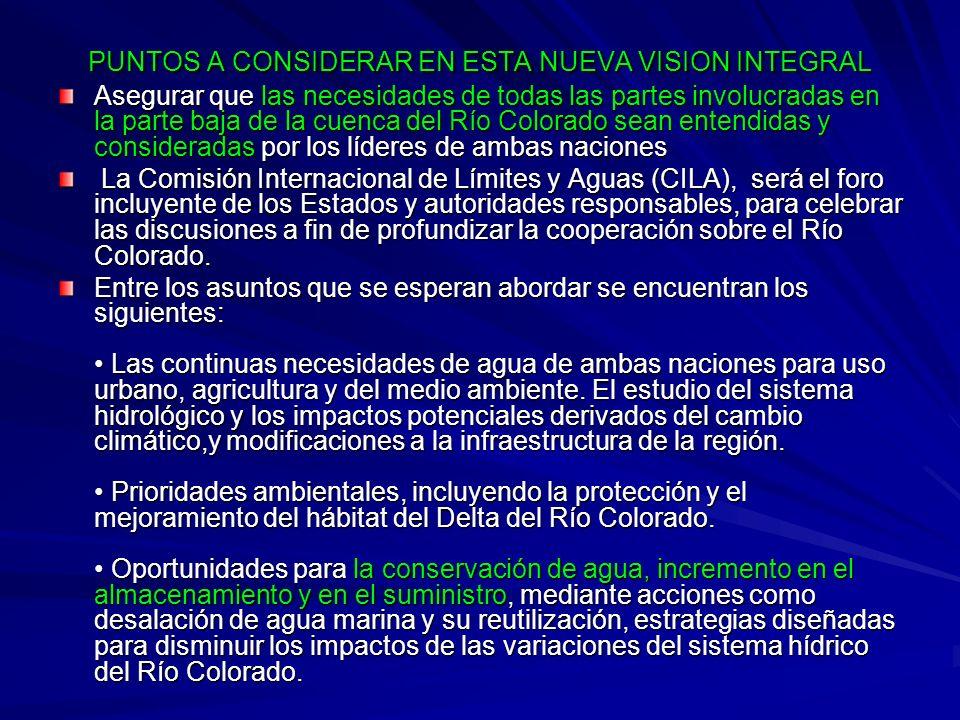 PUNTOS A CONSIDERAR EN ESTA NUEVA VISION INTEGRAL
