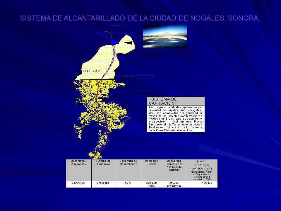 SISTEMA DE ALCANTARILLADO DE LA CIUDAD DE NOGALES, SONORA.