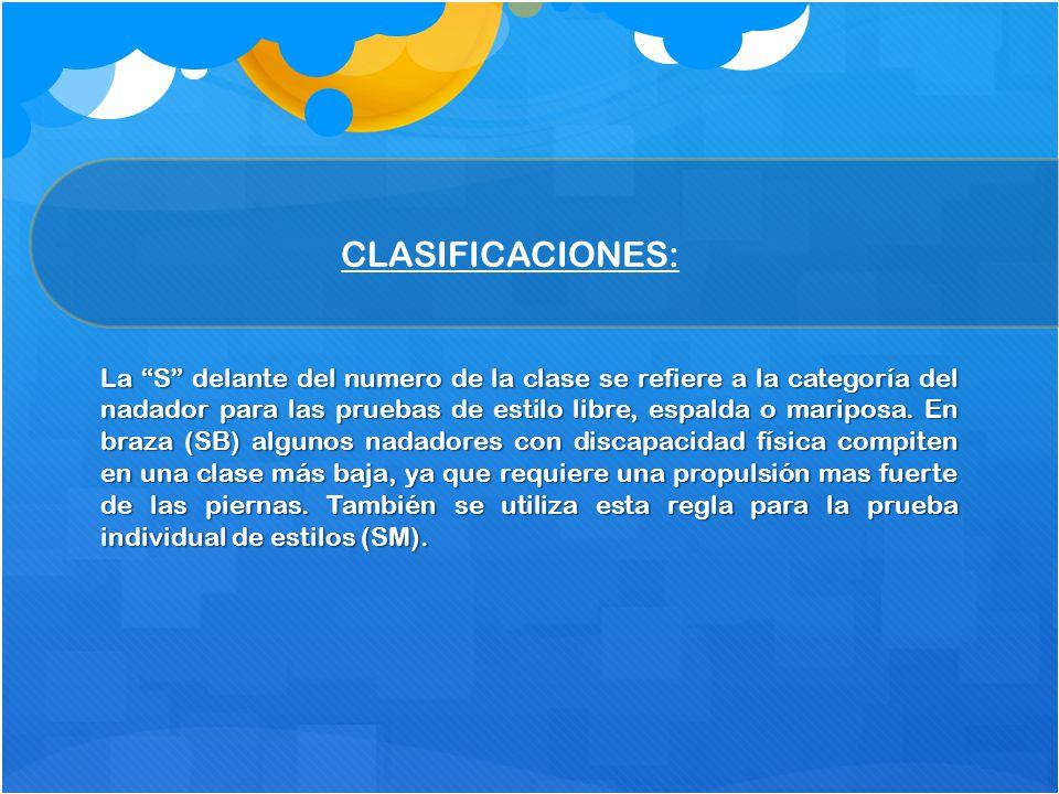 CLASIFICACIONES: