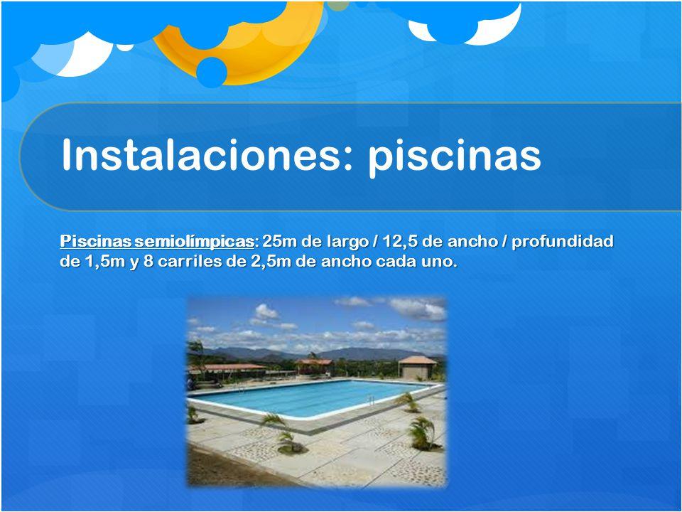 Instalaciones: piscinas