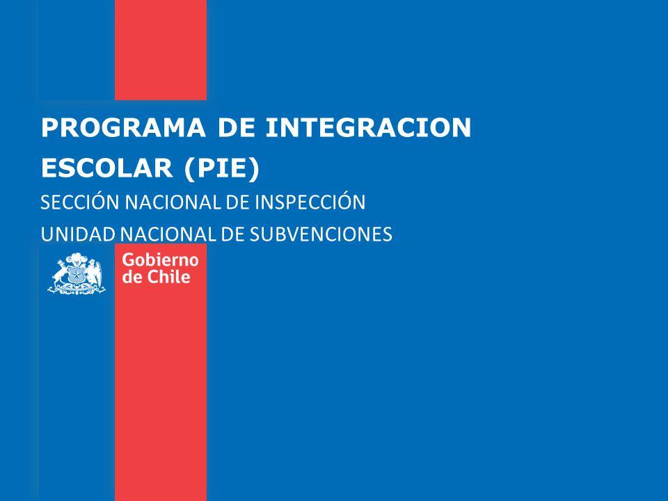 PROGRAMA DE INTEGRACION ESCOLAR (PIE)