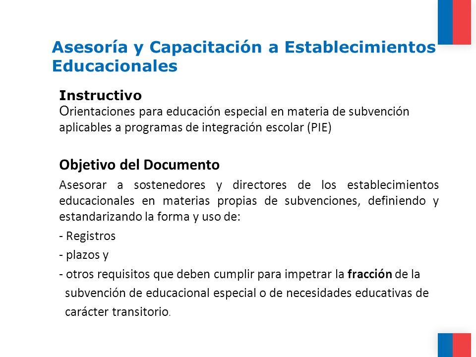 Asesoría y Capacitación a Establecimientos Educacionales