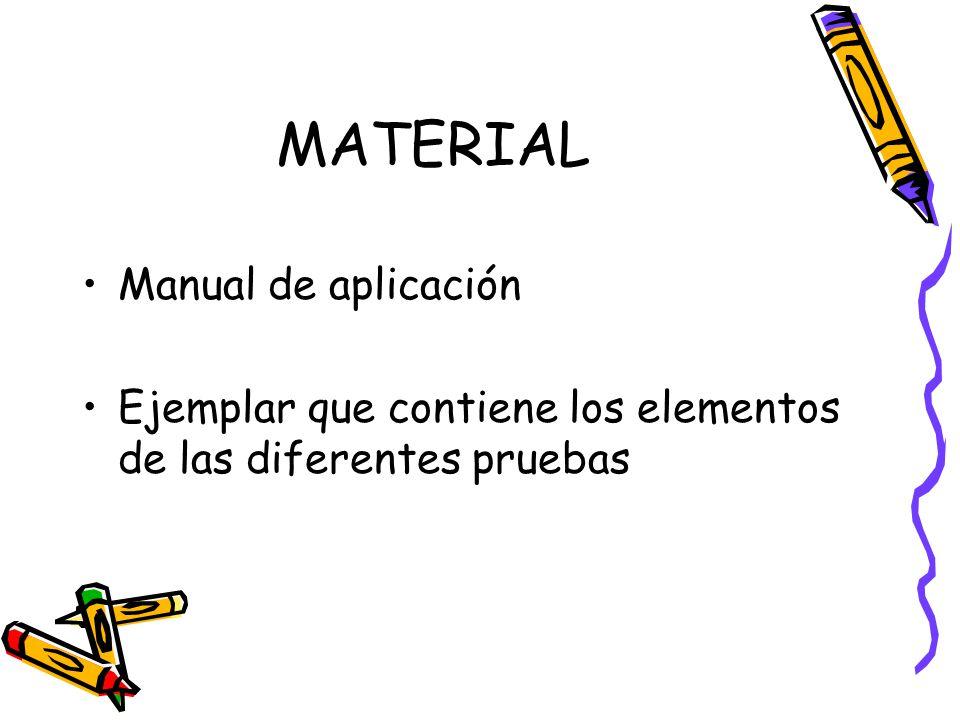 MATERIAL Manual de aplicación