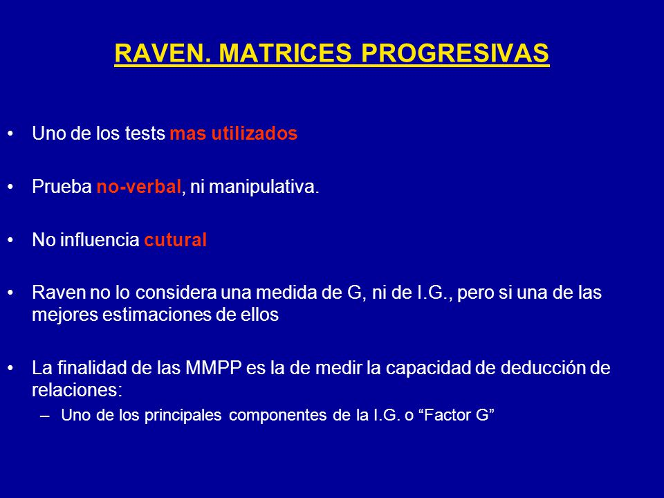 RAVEN. MATRICES PROGRESIVAS
