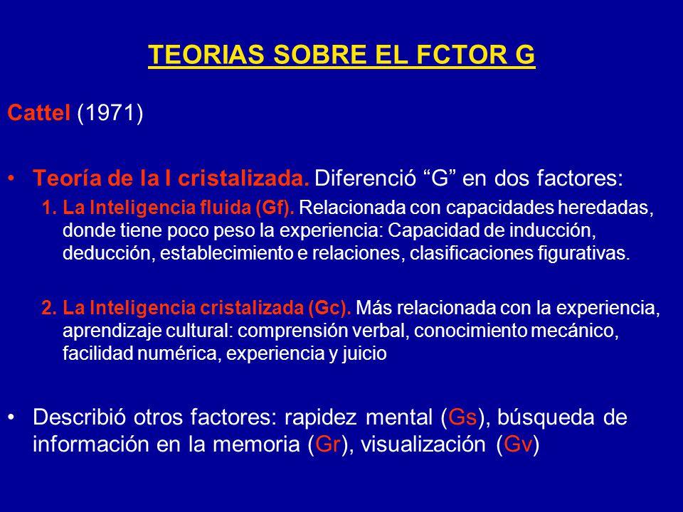 TEORIAS SOBRE EL FCTOR G