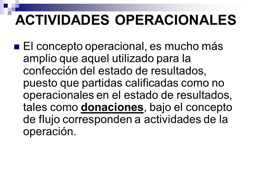 ACTIVIDADES OPERACIONALES