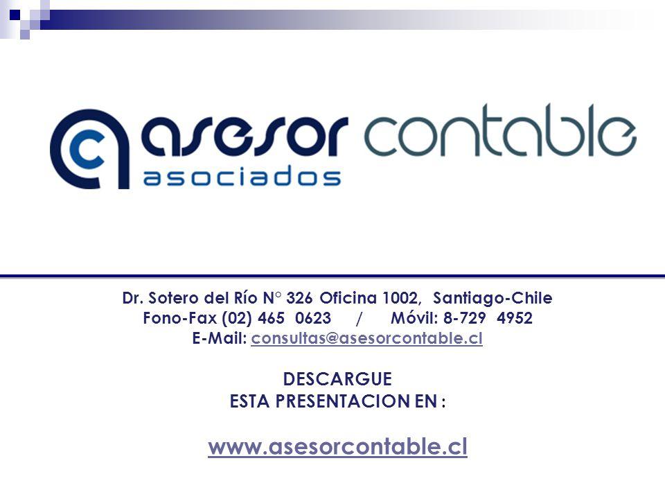 www.asesorcontable.cl DESCARGUE ESTA PRESENTACION EN :