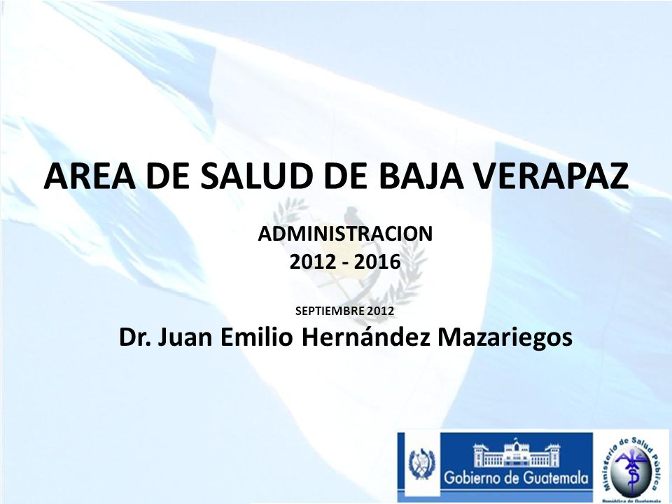 AREA DE SALUD DE BAJA VERAPAZ