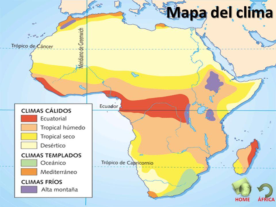 Mapa del clima HOME ÁFRICA