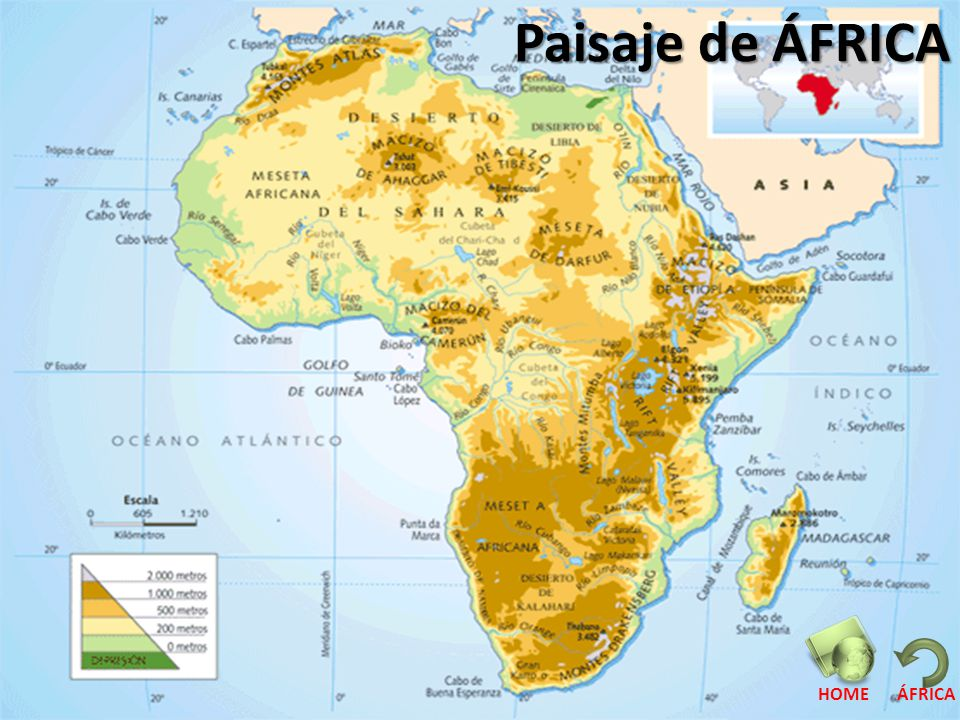 Paisaje de ÁFRICA HOME ÁFRICA