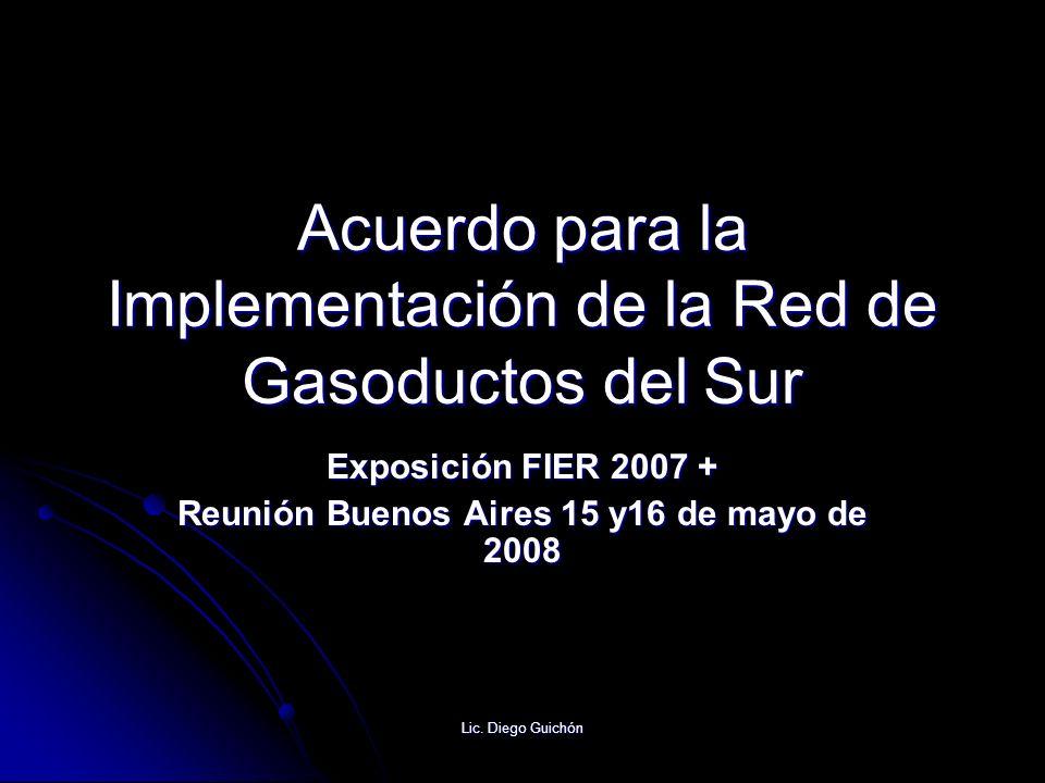 Acuerdo para la Implementación de la Red de Gasoductos del Sur