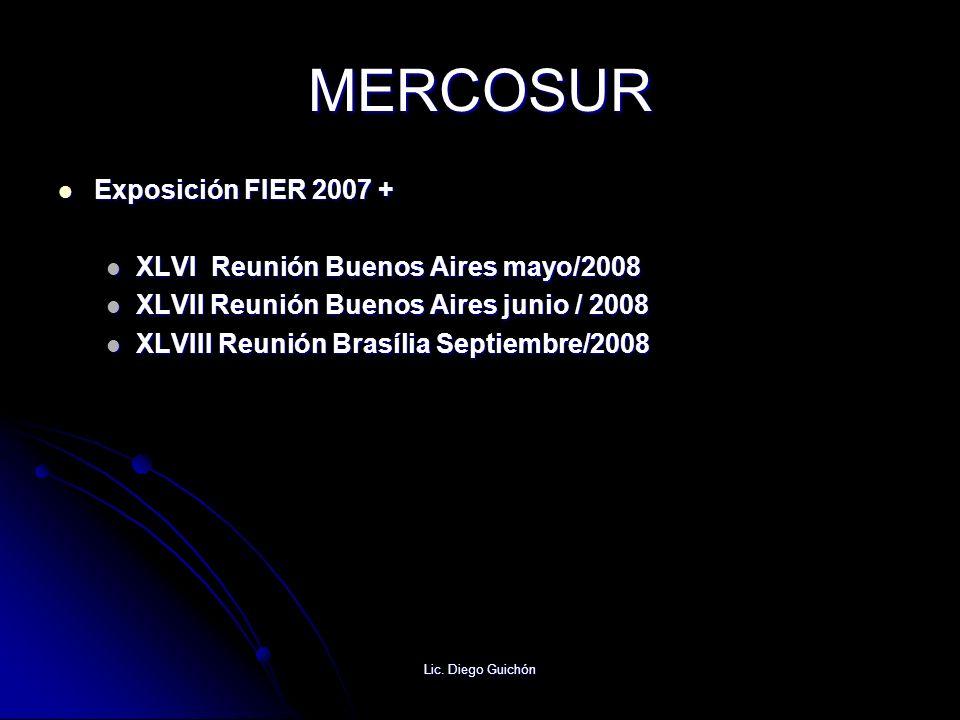 MERCOSUR Exposición FIER 2007 + XLVI Reunión Buenos Aires mayo/2008