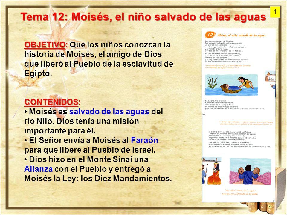 Tema 12: Moisés, el niño salvado de las aguas