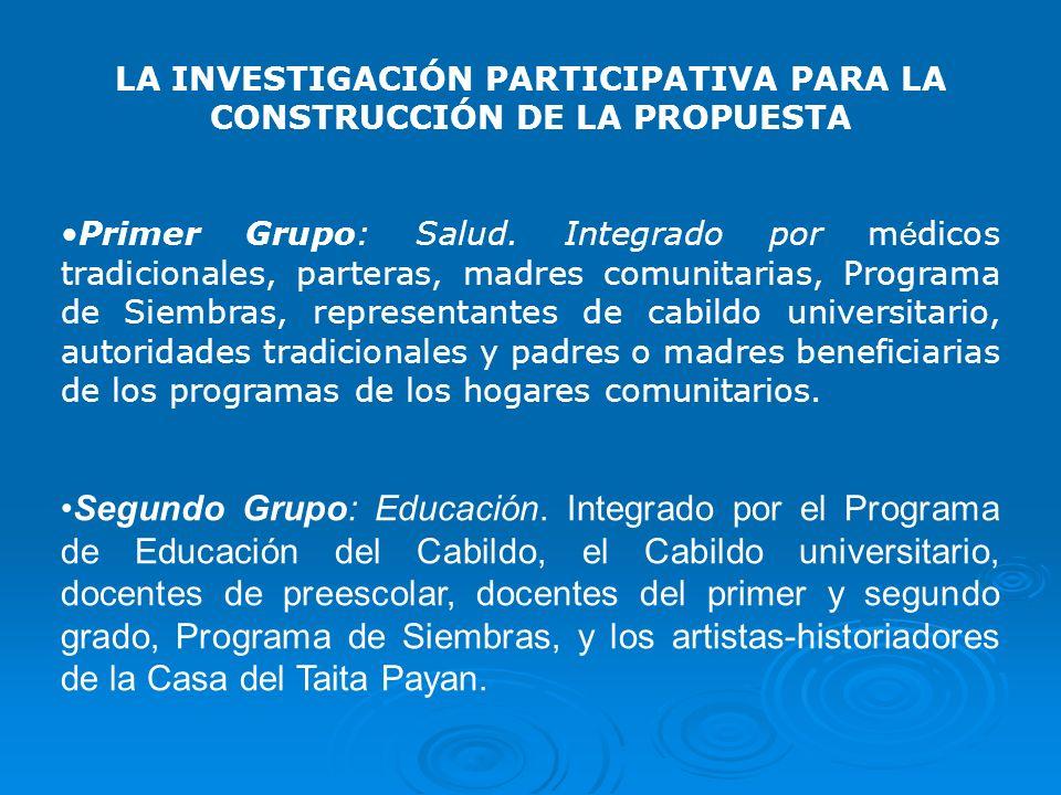 LA INVESTIGACIÓN PARTICIPATIVA PARA LA CONSTRUCCIÓN DE LA PROPUESTA