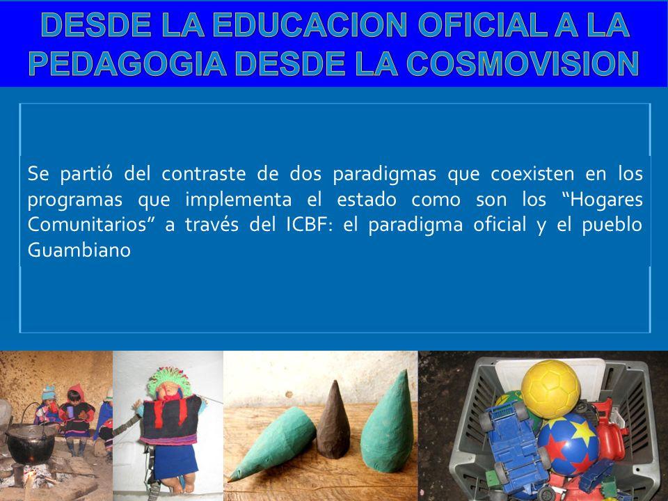 DESDE LA EDUCACION OFICIAL A LA PEDAGOGIA DESDE LA COSMOVISION