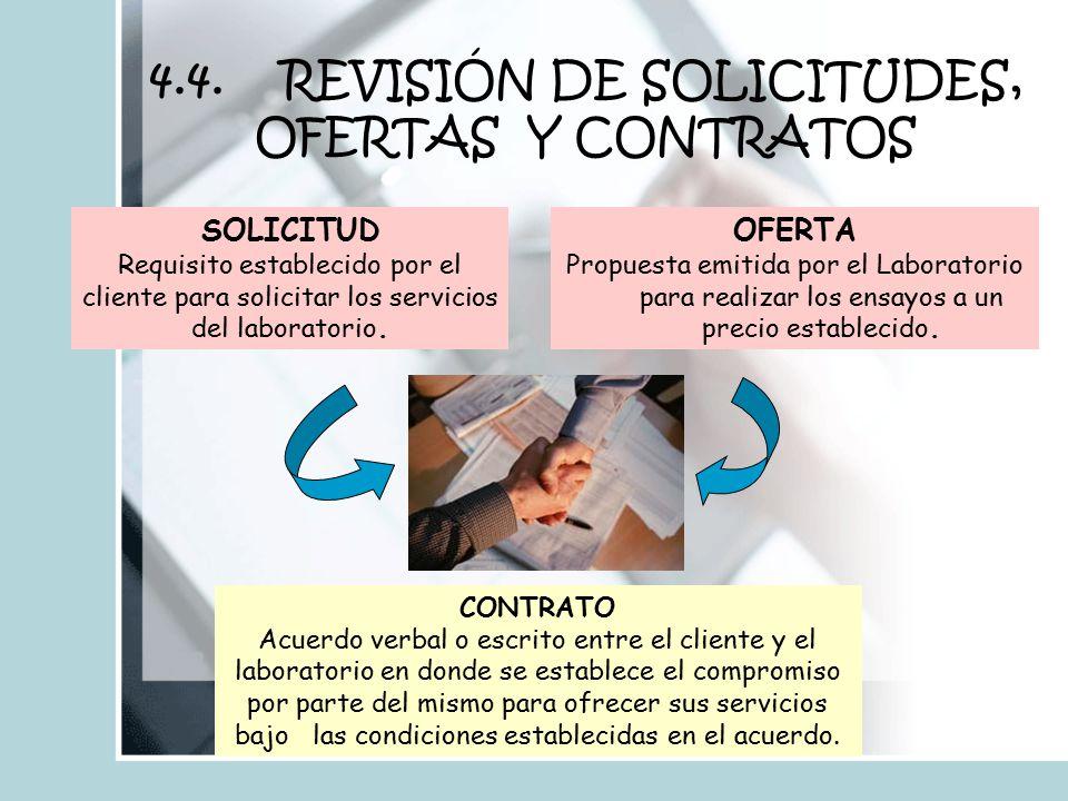 4.4. REVISIÓN DE SOLICITUDES, OFERTAS Y CONTRATOS