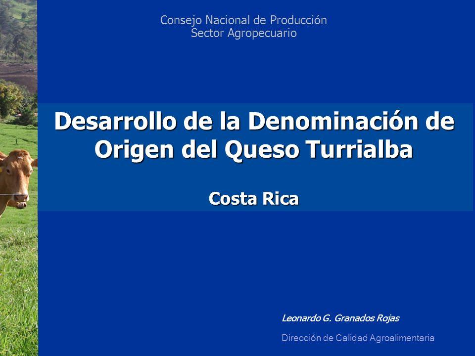 Desarrollo de la Denominación de Origen del Queso Turrialba