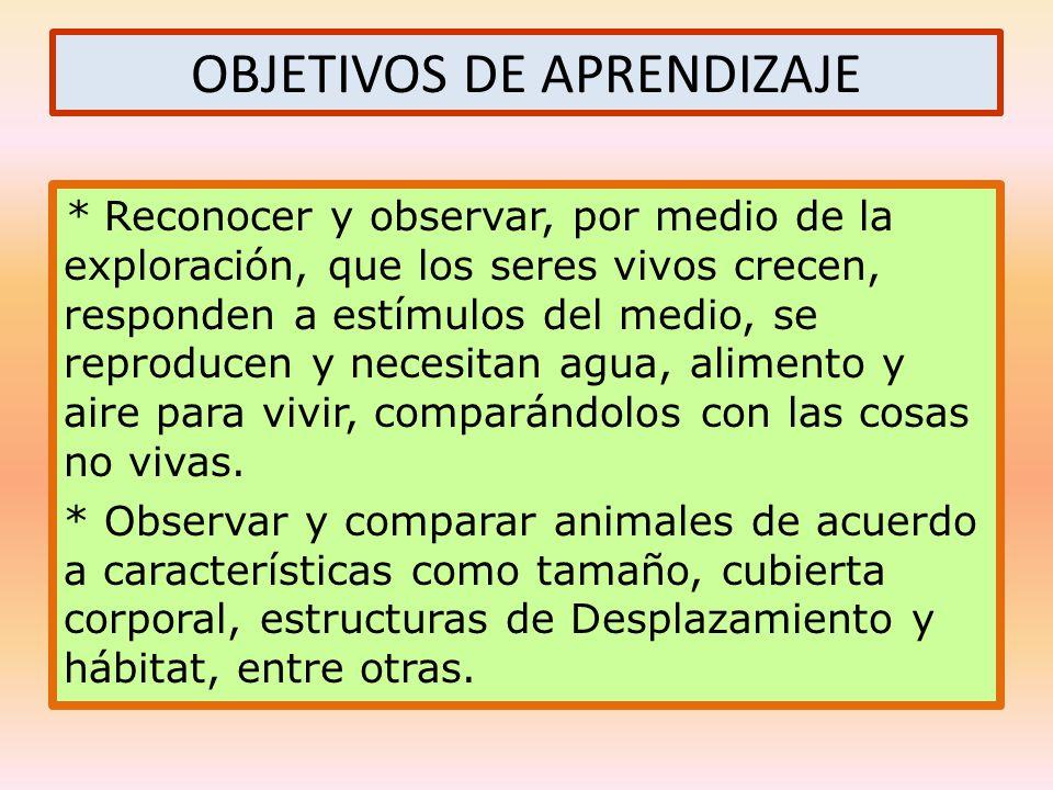 OBJETIVOS DE APRENDIZAJE