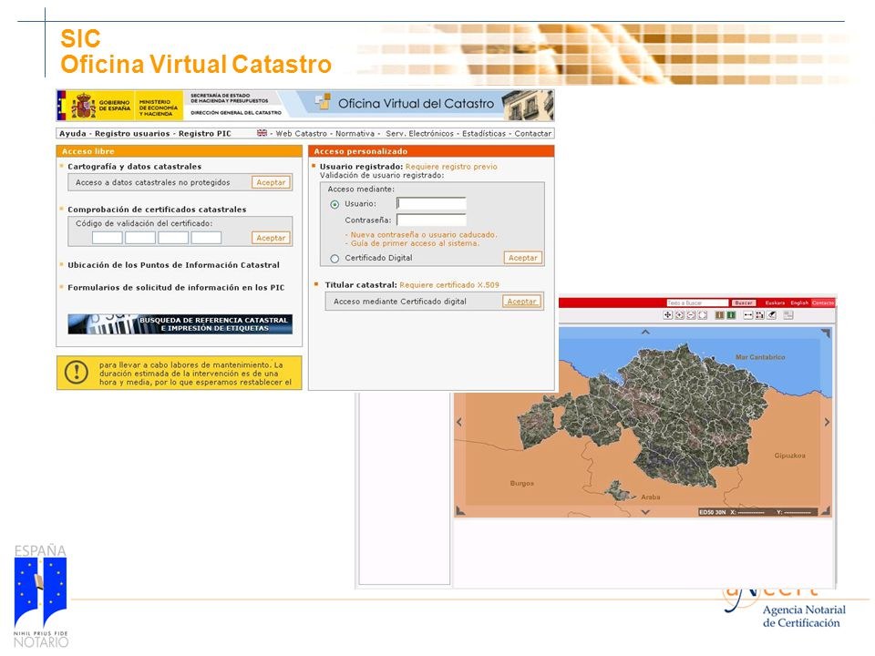 V seminario de experto documental en notarias y registros ppt descargar - Oficina virtual de catastro ...