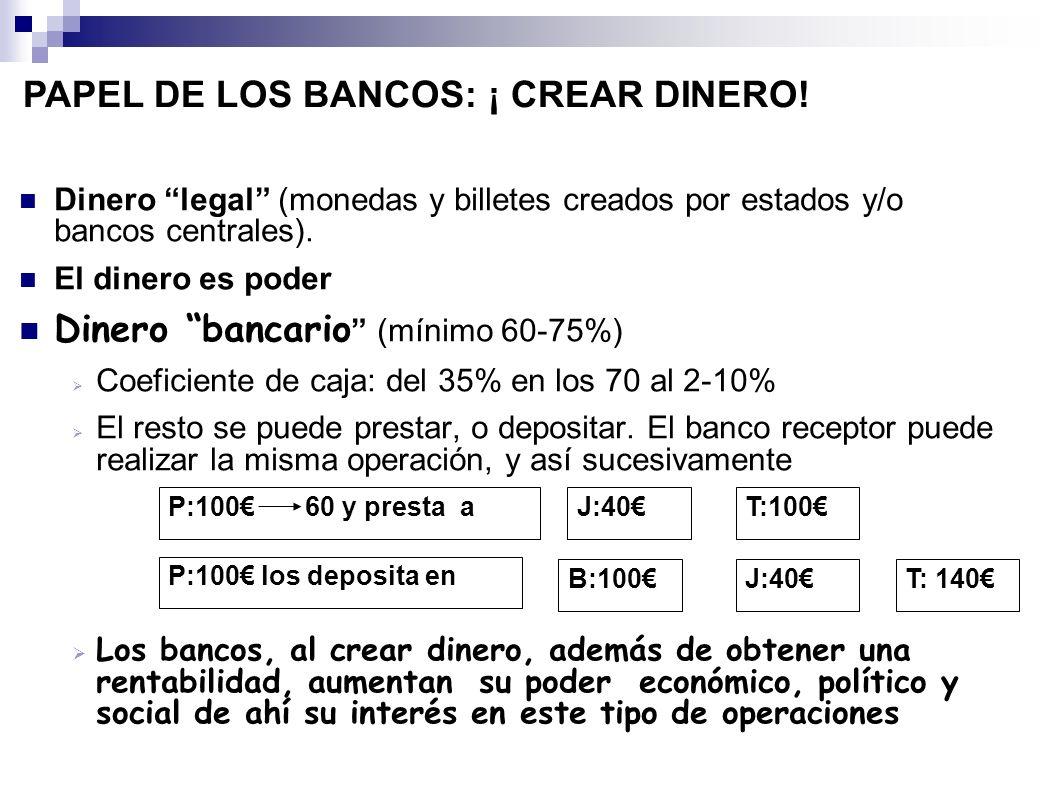 PAPEL DE LOS BANCOS: ¡ CREAR DINERO!