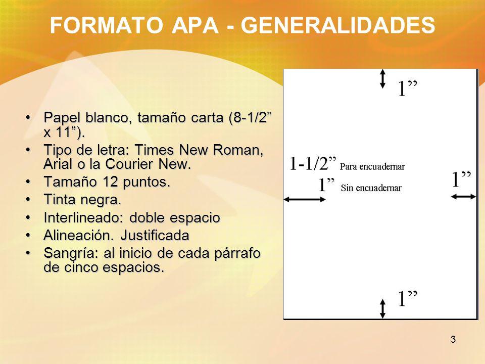 Formato para trabajos escritos estilo APA - ppt video online descargar