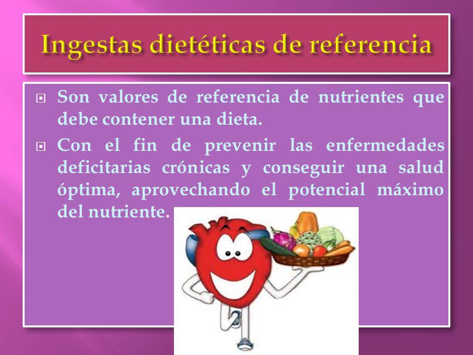 Ingestas dietéticas de referencia