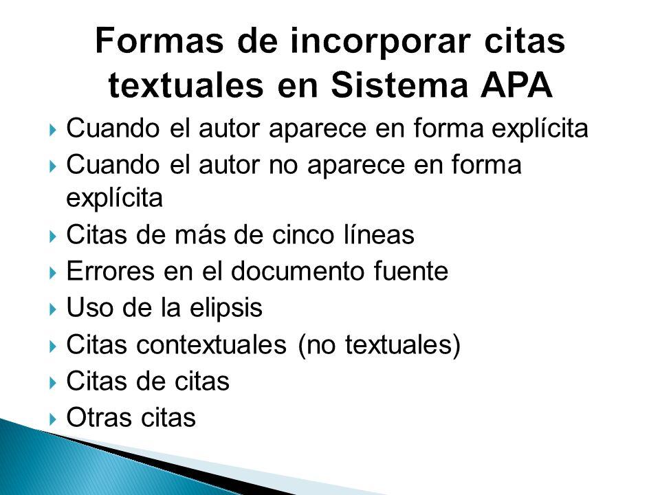 Normas Apa 2016 Edición 6