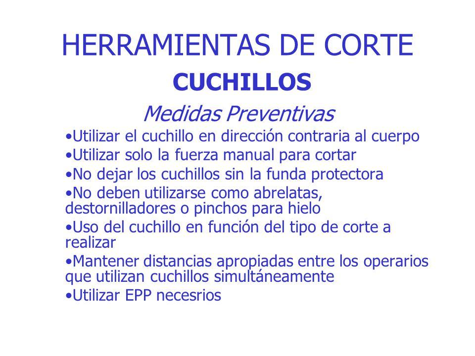 HERRAMIENTAS DE CORTE CUCHILLOS