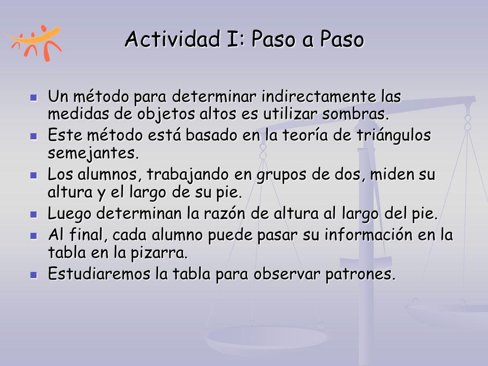 Actividad I: Paso a Paso