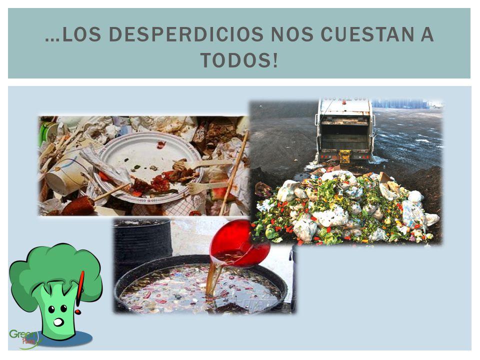 …los desperdicios nos cuestan a todos!