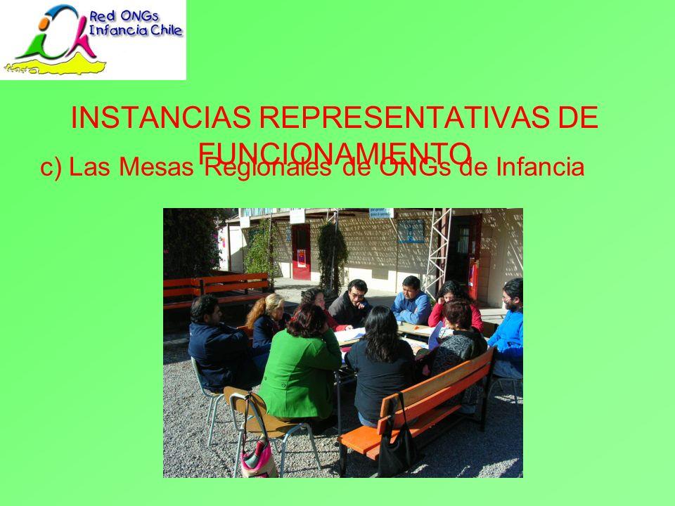 c) Las Mesas Regionales de ONGs de Infancia