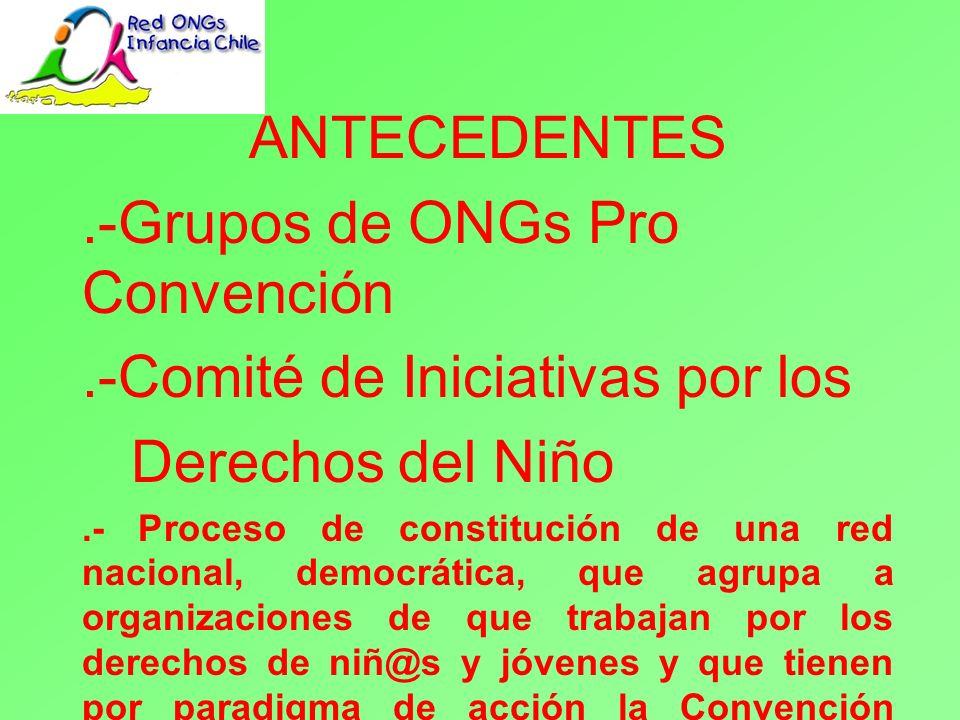.-Grupos de ONGs Pro Convención .-Comité de Iniciativas por los