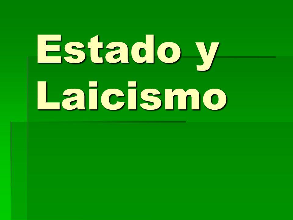 Estado y Laicismo