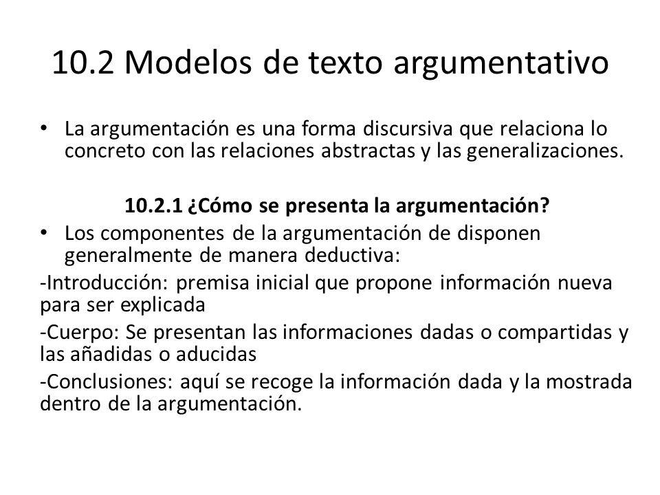 10.2 Modelos de texto argumentativo