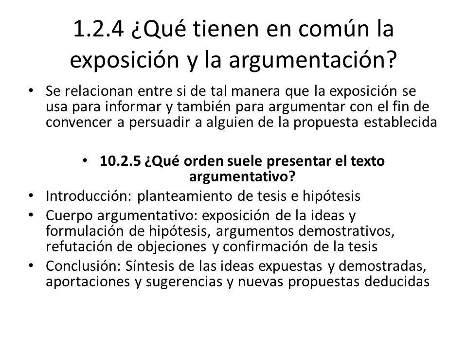 1.2.4 ¿Qué tienen en común la exposición y la argumentación