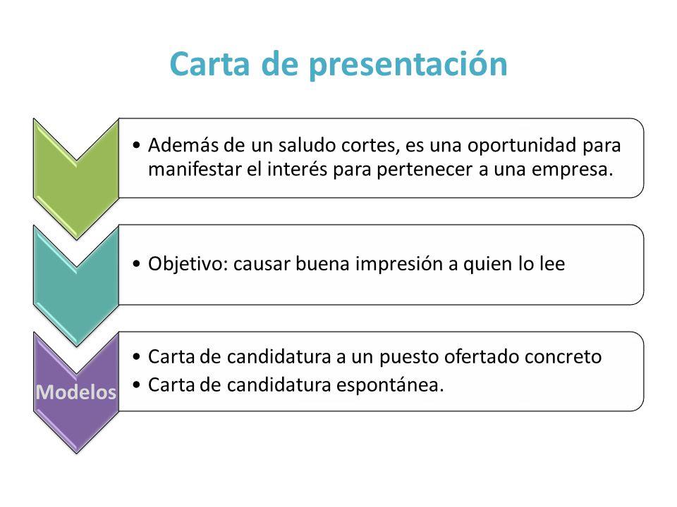 Carta de presentación Modelos