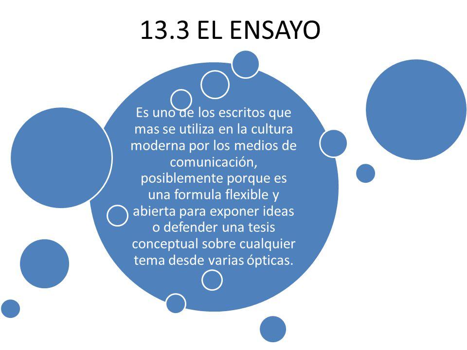 13.3 EL ENSAYO