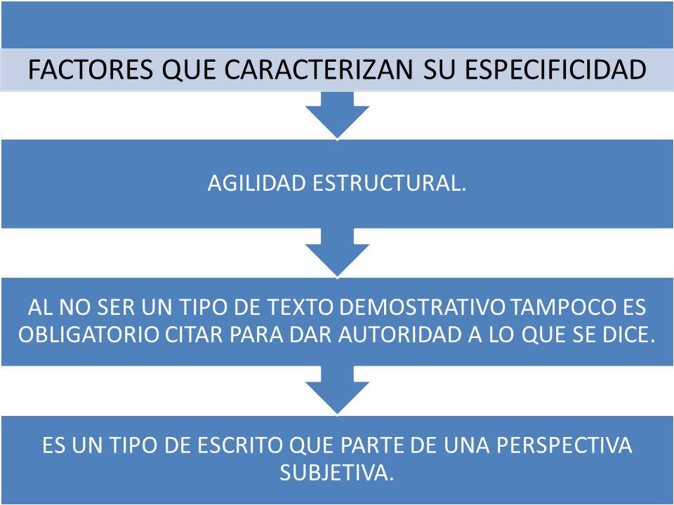 FACTORES QUE CARACTERIZAN SU ESPECIFICIDAD AGILIDAD ESTRUCTURAL.