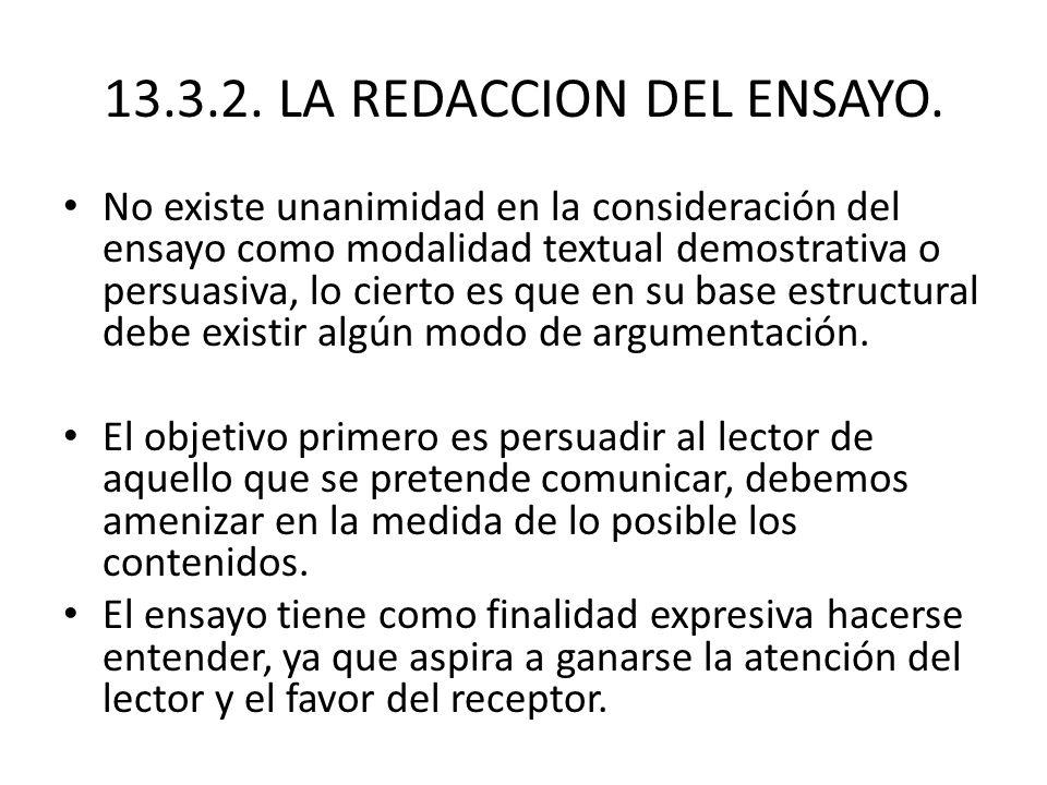 13.3.2. LA REDACCION DEL ENSAYO.
