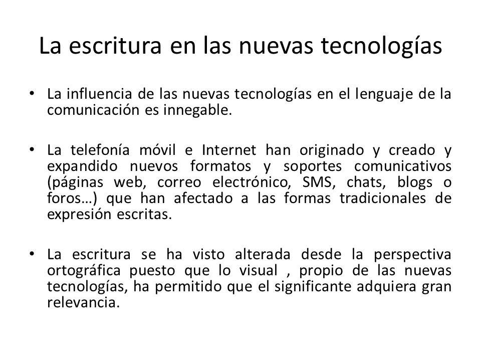La escritura en las nuevas tecnologías