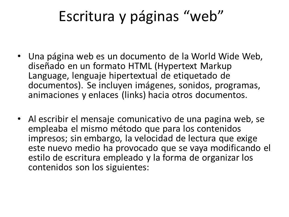 Escritura y páginas web