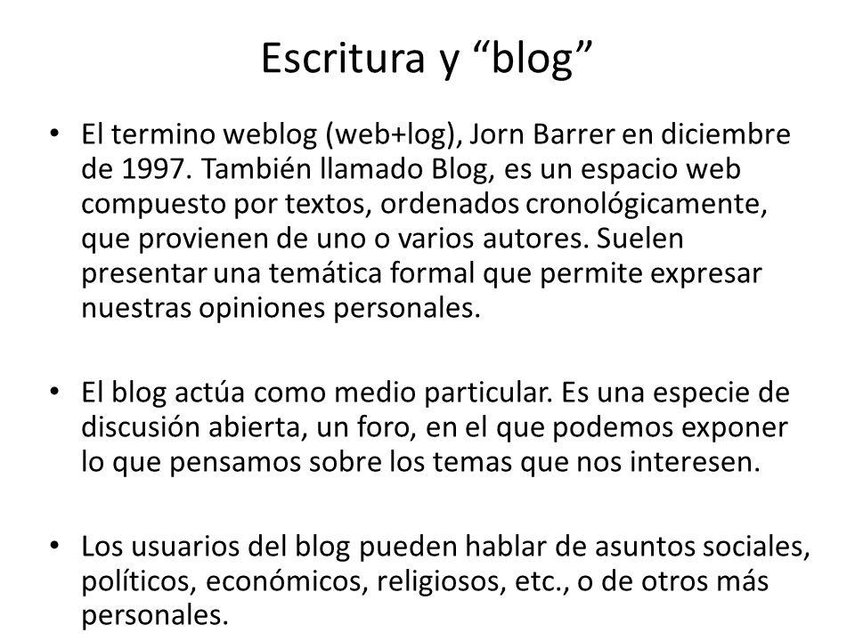 Escritura y blog