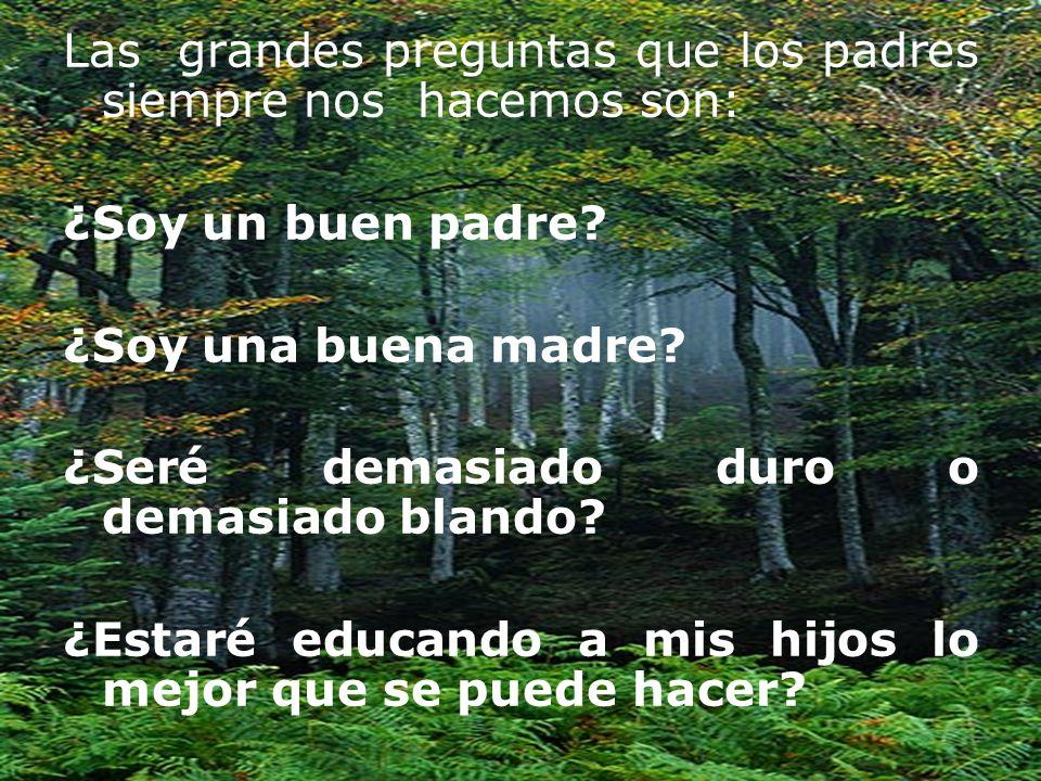 Las grandes preguntas que los padres siempre nos hacemos son: