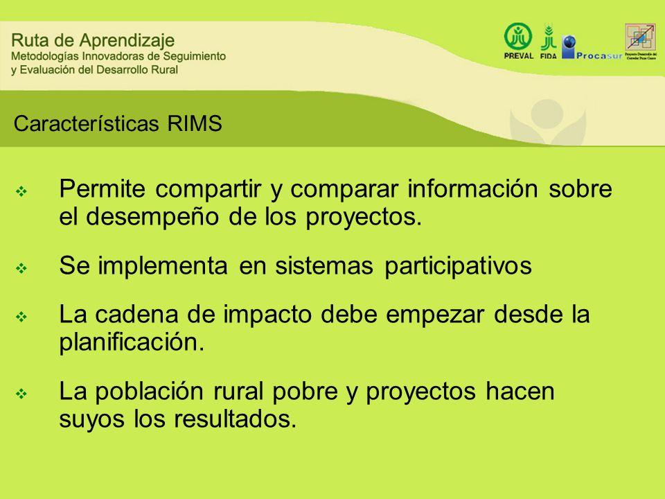 Se implementa en sistemas participativos