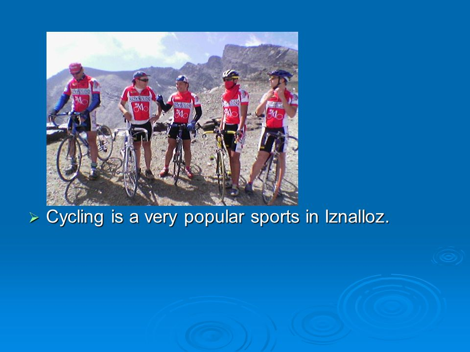 Cycling is a very popular sports in Iznalloz.